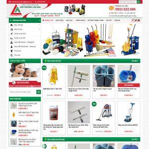 Mẫu Website Bán Các Dụng Cụ Vệ Sinh WBT1402