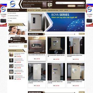 Mẫu Website Bán Két Sắt BOFA WBT1403