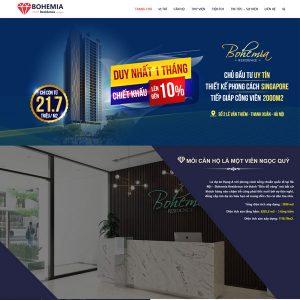 Mẫu Website Giới Thiệu Dự án Bất động Sản WBT256