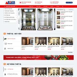 Mẫu Website Kinh Doanh Linh Phụ Kiện Vật Tư Thang Máy WBT233
