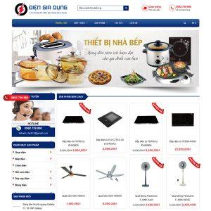 Mẫu Website Bán đồ điện Gia Dụng WBT238