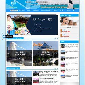 Mẫu Website Du Học Nhật Bản WBT253