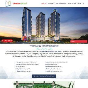 Mẫu Website Bất động Sản Giới Thiệu Dự án WBT236