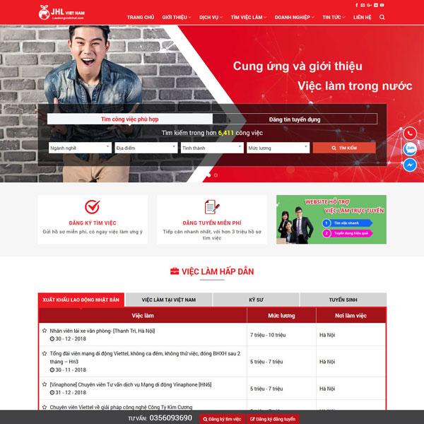 Mẫu website tuyển dụng việc làm TKW227