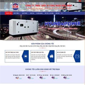 Mẫu Website Giới Thiệu Công Ty Bán Máy Phát điện WBT249