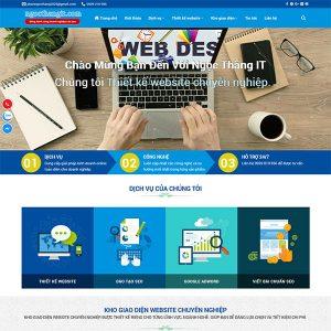 Mẫu Website Công Ty Dịch Vụ Thiết Kế Website WBT228