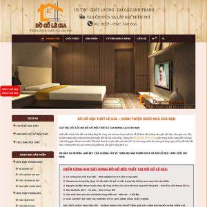Mẫu Website Thi Công Và Bán đồ Nội Thất WBT251