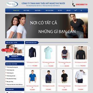 Mẫu Website Bán Thời Trang May Thêu Mỹ Nghệ WBT237