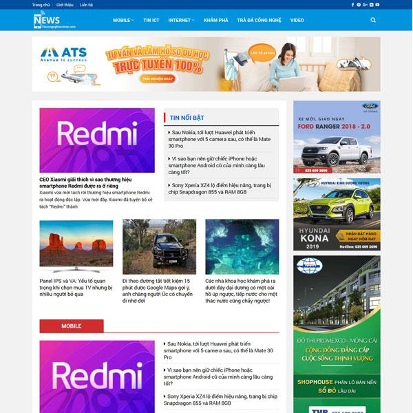 Mẫu website tin tức công nghệ TKW226