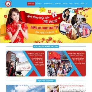 Mẫu Website Du Học Trung Quốc WBT250