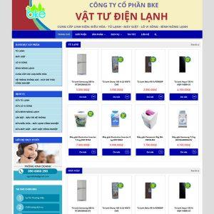 Mẫu Website Vật Tư Linh Kiện điện Lạnh WBT234