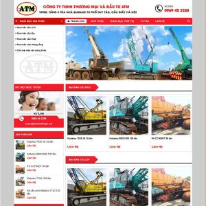 Mẫu Website Bán Xe Nâng Xe Cẩu WBT252