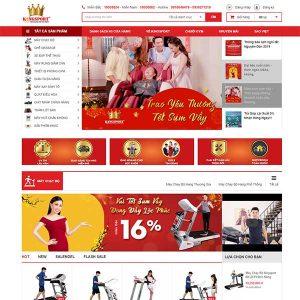 Mẫu Website Bán Thiết Bị, đồ Dùng Thể ThaoWBT1406