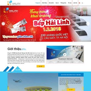 Mẫu Website Doanh Nghiệp WBT1407
