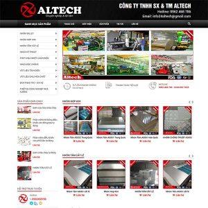 Mẫu Website Bán Các Sản Phẩm Nhôm – Nhựa WBT1408