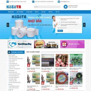 Mẫu Website Bán Giấy In Nhiệt WBT1409