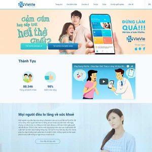 Mẫu Website Tư Vấn Y Tế WBT1410