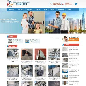 Mẫu Website Cơ Khí WBT1414