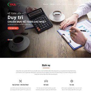 Mẫu Website Dịch Vụ Kế Toán WBT1415