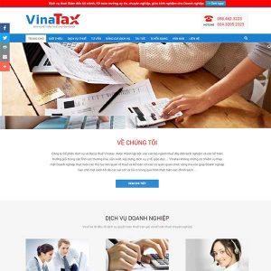 Mẫu Website Dịch Vụ Thuế WBT1416