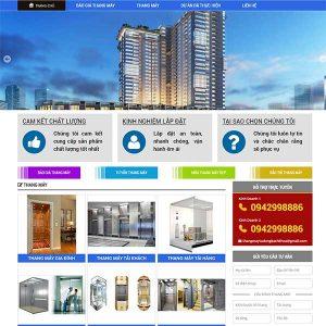 Mẫu Website Thang Máy WBT1419