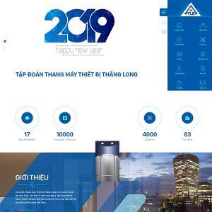Mẫu Website Bán Thang Máy WBT1420
