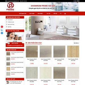 Mẫu Website Bán Vật Liệu Xây Dựng WBT261