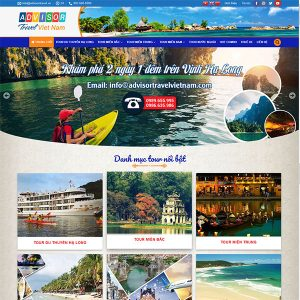 Mẫu Website Du Lịch Advisor TravelWBT 1421
