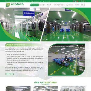Mẫu Website Dịch Vụ Giặt Phòng Sạch VNEcotech WBT 1422