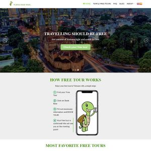 Mẫu Website Du Lịch Turtle Free Tour WBT 1425