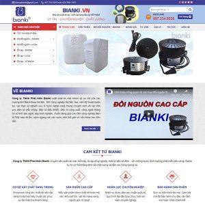 Mẫu Website Thiết Bị điện BIANKI WBT 1426