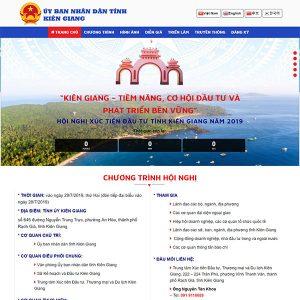 Mẫu Website Hội Nghị Kiên Giang Invest WBT 1427