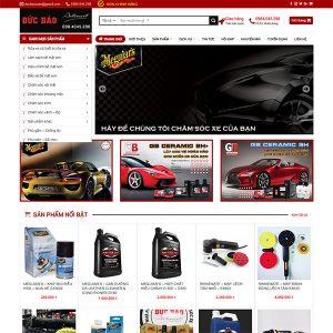 Mẫu Website Bán Sản Phẩm Chăm Sóc Xe Hơi Đức Bảo Auto WBT 1429