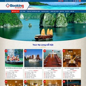 Mẫu Website Du Lịch Booking Ha Long Bay WBT 1431