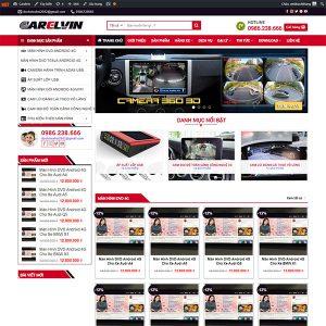 Mẫu Website Bán đồ Chơi ô Tô Carelvin WBT 1433
