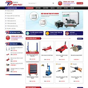 Mẫu Website Thiết Bị Bảo Dưỡng ô Tô Tùng Phát WBT 1434
