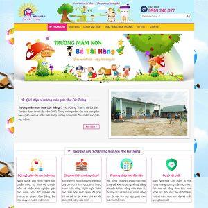 Mẫu Website Trường Mẫu Giáo Hoa Cúc Trắng WBT1436