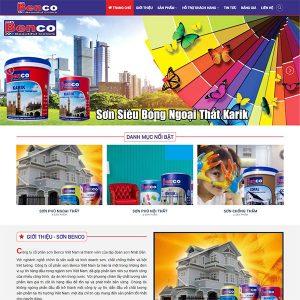 Mẫu Website Bán Sơn BENCO WBT1437