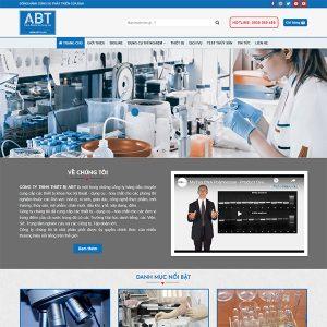 Mẫu Website Thiết Bị Dụng Cụ Thí Nghiệp ABT WBT1439