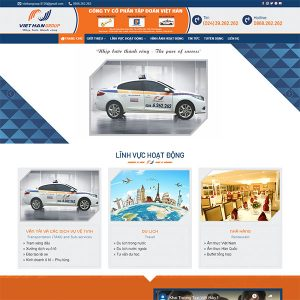 Mẫu Website Việt Hàn Group WBT1440